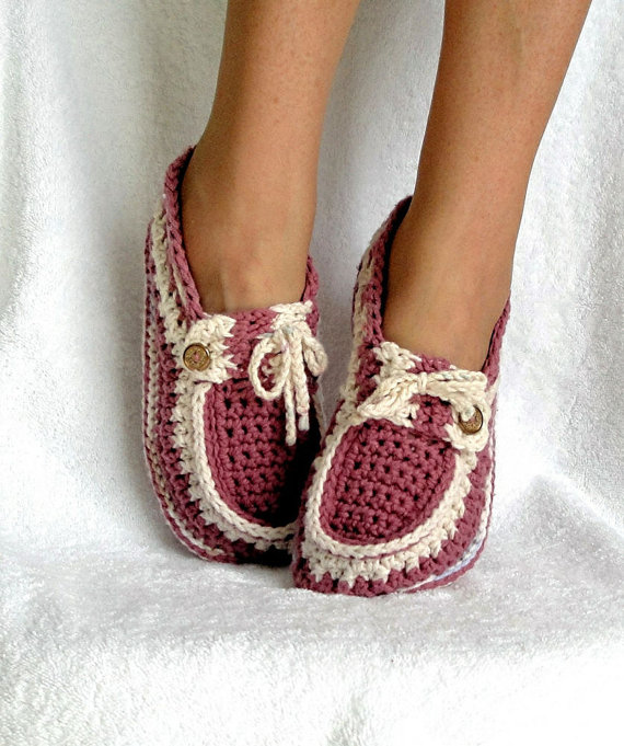 Free Crochet Pattern Loafer Slippers : Instant Download ? Crochet Pattern ? Adult Button Loafers ...