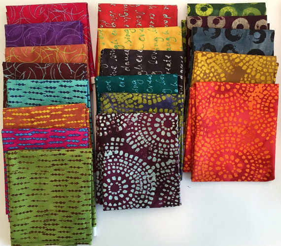 INKED fabric by Lynn Krawczyk - Fat Quarter set of Entire Line (31 Fat Quarters) by SmudgedTextilesShop