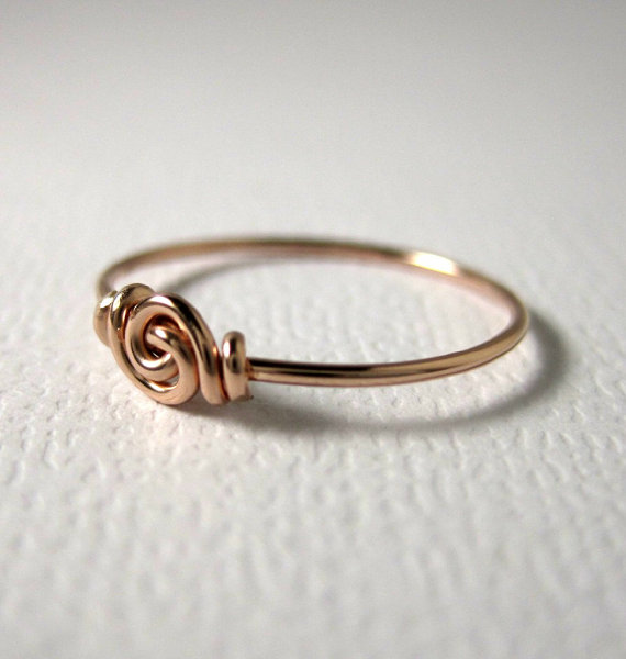Promise Ring Love Knot Ring for Tiny Fingers Pinky Ring Knuckle Ring ...