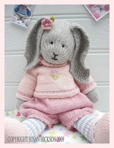 Bunny Knitting Pattern / Toy Knitting Pattern / PRIMROSE Rabbit / Plus Free 'Handmade Shoes' Knitting Pattern / INSTANT Download by maryjanestearoom