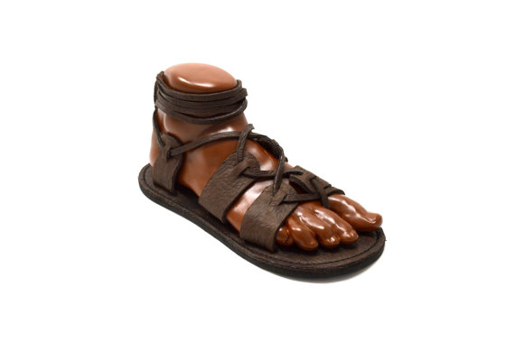 945fd4039b76 Men s Gladiator Sandals   Chocolate Brown Handmade Sandal Greek ...