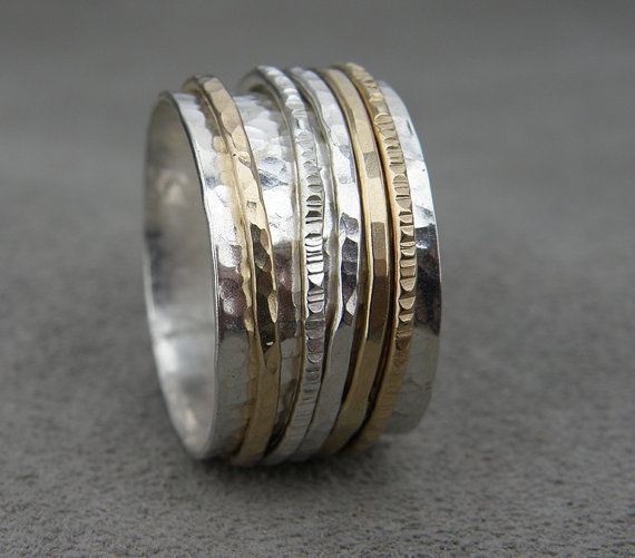 Silver And Gold Spinner Ring Pros And Cons By Thesilversmith