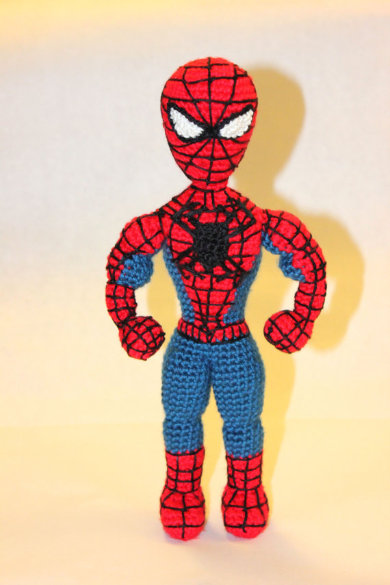 PATTERN Instant Download Spiderman Superhero Crochet Doll Amigurumi by Sahrit
