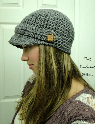 PATTERN download pdf crochet adult newsboy cap & quot; Puddle Jumper Newsboy Hat & quot; Adult by TheSunshineStitch