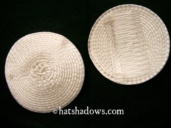 Cream Ivory Straw Fascinator Millinery Hat Base with Comb by hatshadows