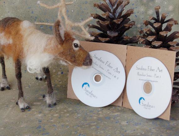 Reindeer: Felting Eweniversity Instructional DVDs by SarafinaFiberArt