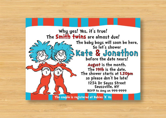 Thing 1 And 2 Twins Baby Shower