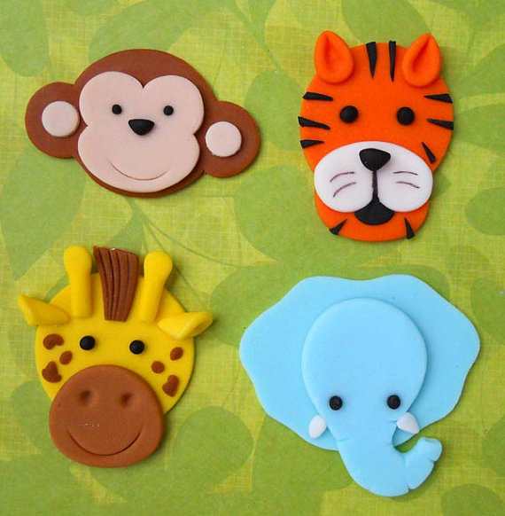 Fondant Jungle Animals Cake Toppers To Buy