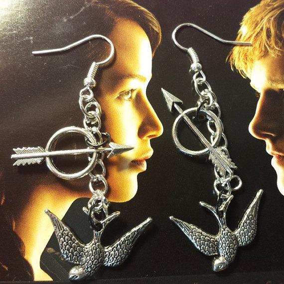 Simple Bird Arrow earrings by TheCharmingMantis