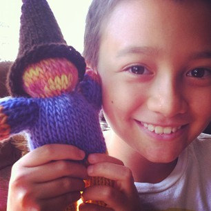 Knitted Gnome Doll – Waldorf by Syrendell