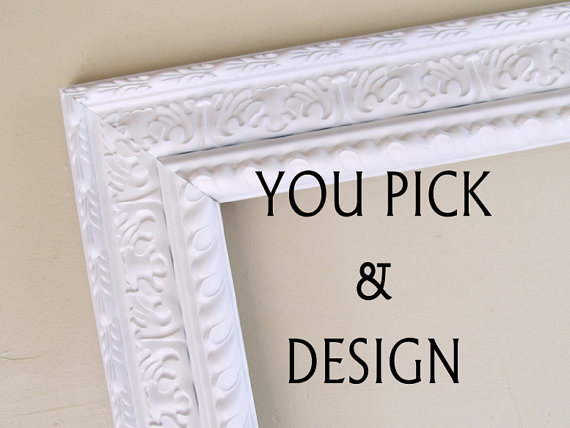 Fabric Covered Magnet Board Kitchen Chalkboard Wedding Sign Nursery Shabby Chic Chalk Board Magnetic Cork Board 16x20 - YOU PICK and DESIGN by ShugabeeLane