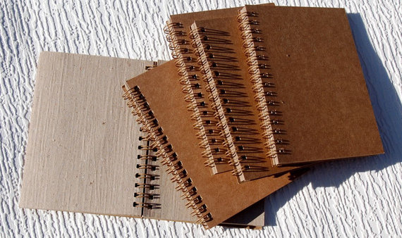 Spiral Bound All Natural Journal & Sketch Books – SET OF FIVE by grafix