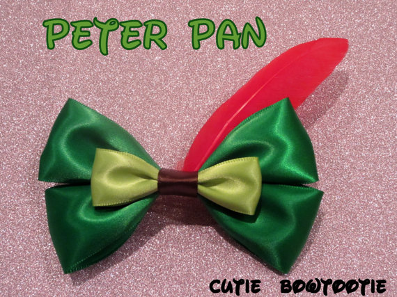 Peter Pan hair bow Disney Inspired by bulldogsenior08