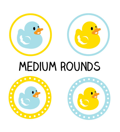 PRINTABLE Ducky Labels, Duck Baby Shower Stickers or Tags, DIY Ducky Baby Boy Shower Cupcake Toppers (Medium Size) Instant Download by ladybuglabels