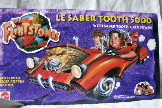 Mattel Flintstones Le Saber Tooth 5000 Car Mint in Box by TheVintageConnection