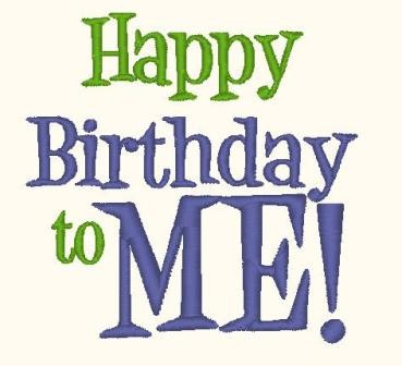 HAPPY BIRTHDAY to ME Machine Embroidery Design by SewSpoiledBoutique