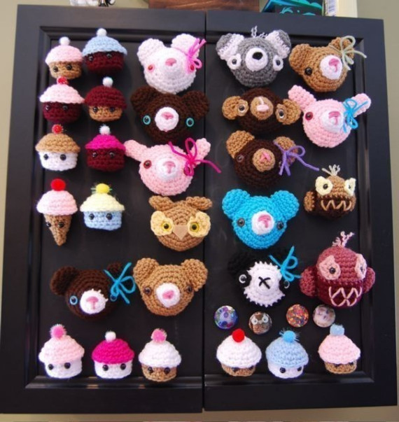 Animal Magnet Crochet Pattern-PDF by trulyoutrageous