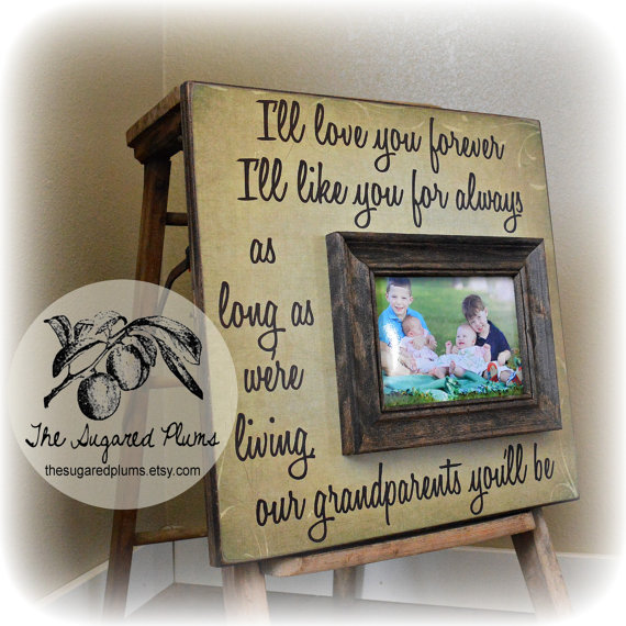 Grandparents Picture Frame Mimi Papa Grandma Grandpa