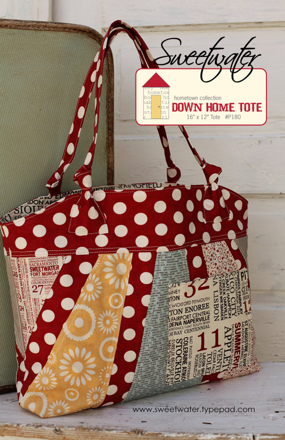 Down Home Tote – Download Pattern by sweetwaterscrapbook