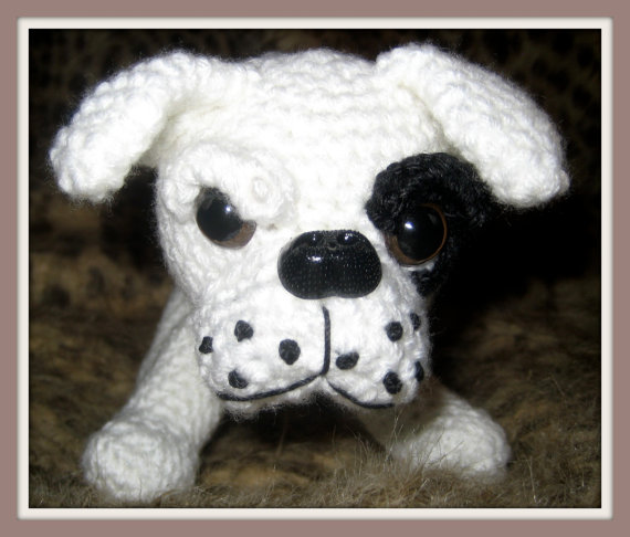 Crochet Pattern American Bulldog Amigurumi by FuzzyFeetDesigns