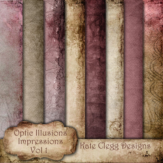 Digital Scrapbooking Papers - Impressions - My Love - Paper Pack - Eight Beautiful Paper with Rich Color and Texture - 12 x 12 by opticillusions