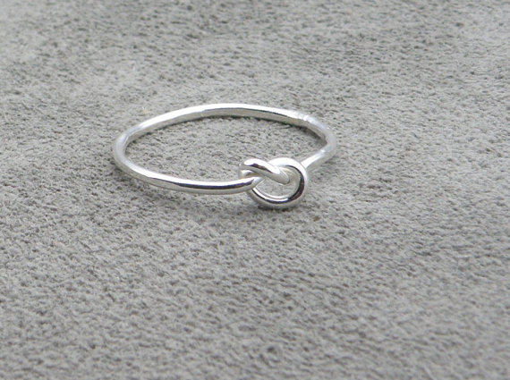 Silver Knot Ring – Lets Tie The Knot – SALE was 28.00 by thesilversmith