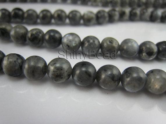 black labradorite round bead 4-6mm 15 inch strand by ShinyBead