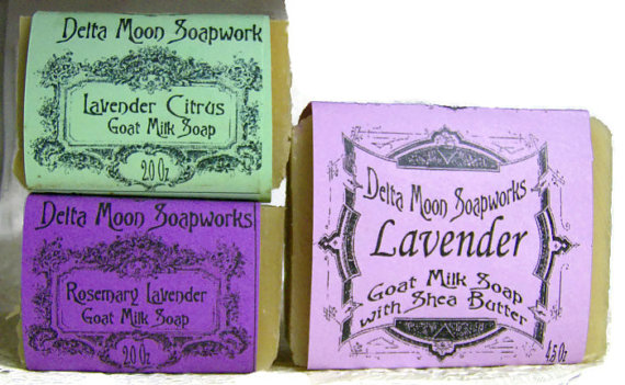 Lavender Goat Milk Soaps, Olive Oil,Shea Butter Soap , EcoFriednly soap, dry skin soap, mini soap, Goat's milk Soap, essential oils, mild by deltamoonsoap