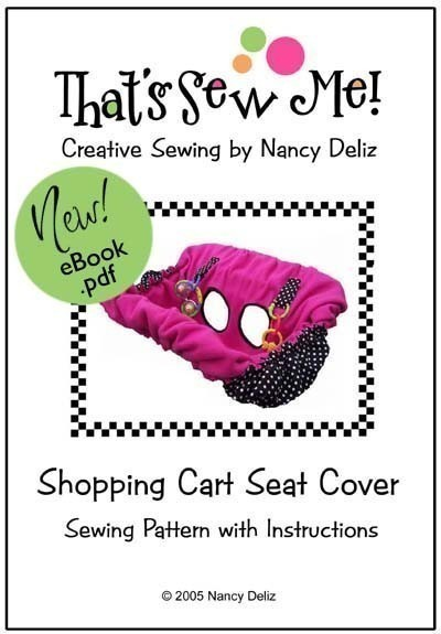 Shopping Cart Seat Cover Sewing Pattern eBook – IMMEDIATE DOWNLOAD by BurlapBlingHandmade