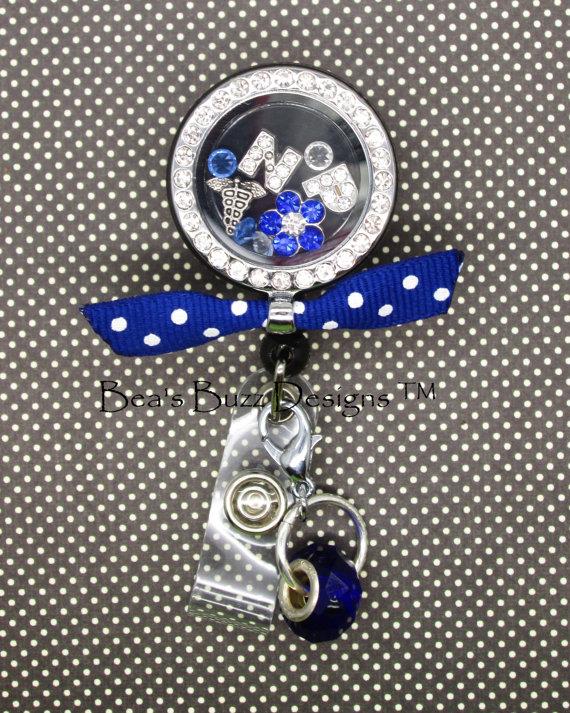REEL-LOCKET ™ – Locket, Retractable badge reel, Badge Clip, Floating charm memory locket, floating Locket, Floating Charm, RN, Nurse, Nurse Gift, Id by BeasBuzzDesigns