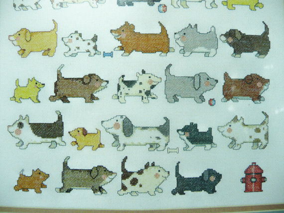 I Love Dogs, Needle Treasures Counted Cross Stitch Kit, 12 & quot; x 16 & quot ;, 04 641 by yesteryearshome