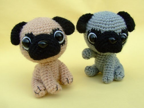 Pug Puppy - PDF Crochet Pattern by jaravee