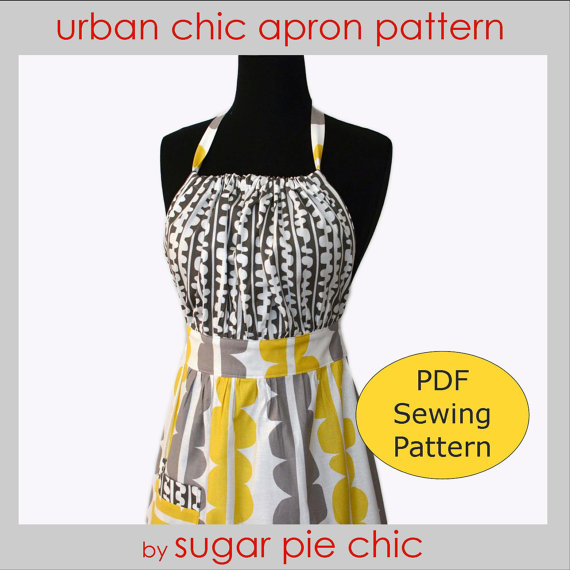 PDF Woman's Full Apron Tutorial – Urban Chic Apron – Instant Download Sewing Pattern by SugarPieChic