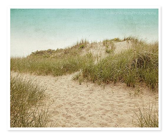 Beach Photography, Beach Dunes, Ocean Seashore Coastal Art, Landscape, Coastal Wall Art, Beach House Decor, Beige Tan Neutral, Summer by JillianAudreyDesigns