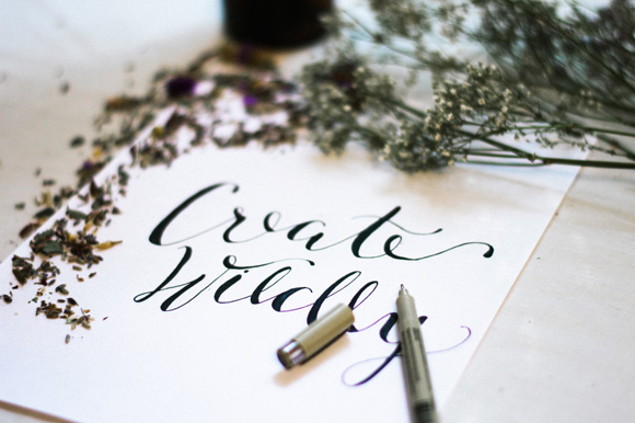 How To Create Faux Calligraphy A Giveaway Diy