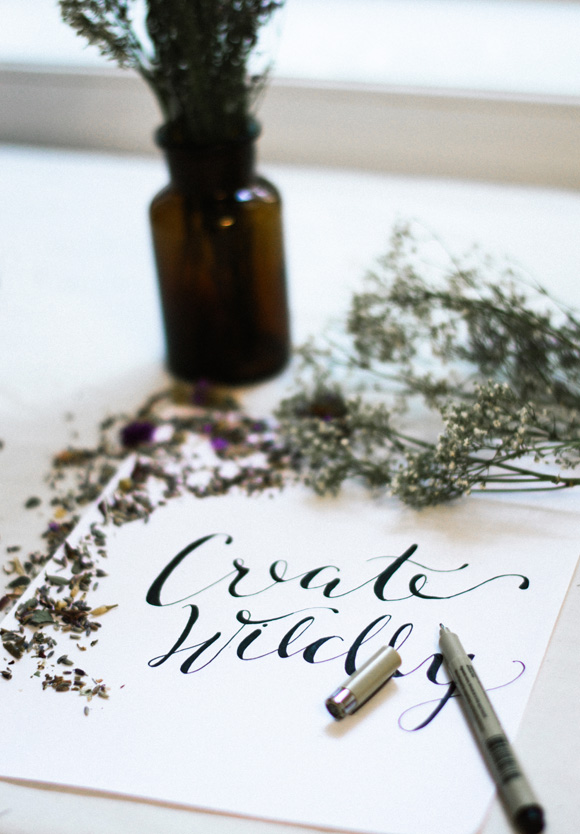 How To Create Faux Calligraphy + A Giveaway!