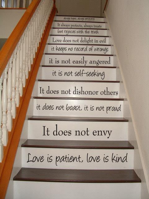 Best Love is Patient, Love is Kind – 1 Corinthians 13 – STAIR CASE  WP69