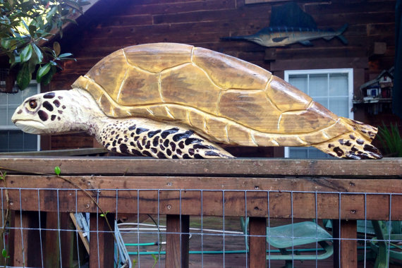 Sea Turtle 42 & quot; wooden chainsaw carving indoor outdoor home decor art seaside villa rustic wall mount turtle sculpture beach nautical accent by oceanarts10