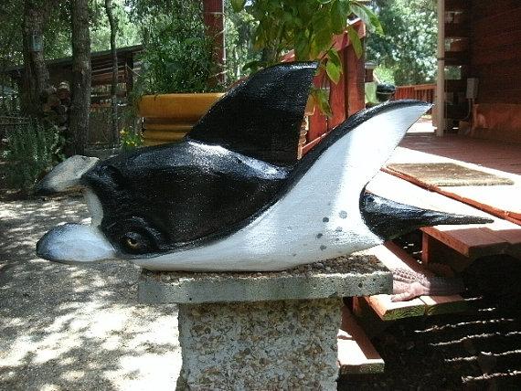 Manta Ray carving 33 & quot