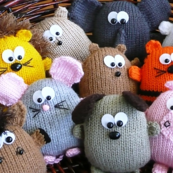 Peter's Pals – hedgehog dog lion tiger horse pig elephant hamster rabbit mouse bear beaver – INSTANT DOWNLOAD PDF Knitting Pattern by kooklacreations