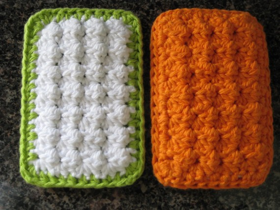 PATTERN – Cotton Crochet Cloth Sponge Scrubbies – PATTERN by buyhand