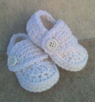 Crocheted Baby Boy Loafer Booties in White Blessing Christening Baptism 0-3 months Shoes Special Occasion shower gift by SoBebelicious