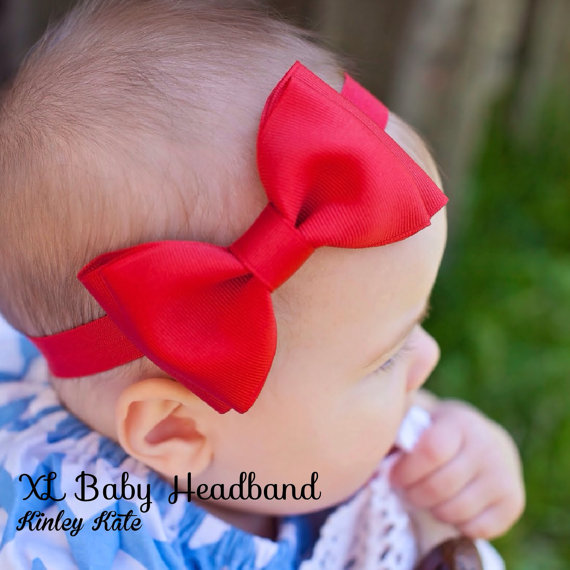 Snow White Headband, Baby Headband, Snow White Costume by KinleyKate
