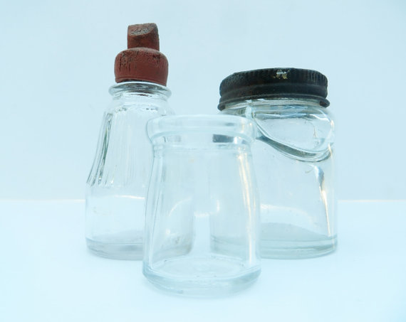 Ink Bottles Skrip's Inkwell Bottle Ink Bottles Glass Rustic Antique by Modred12