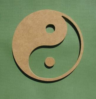 8 inch YIN YANG unfinished MDF wooden shape by damboisedesigns