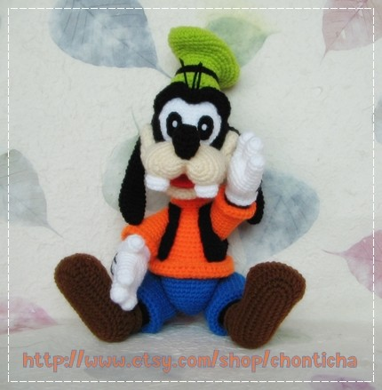 Goofy 12 inches - PDF amigurumi crochet pattern by Chonticha