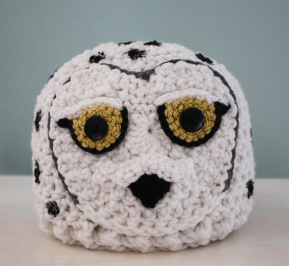 Snowy Owl Hat, Owl Hat, Animal Beanie, Crochet Hat, White Bird, Costume, Halloween, Geekery, Children's Clothing, Accessories, Winter Hat by MaryOriginals