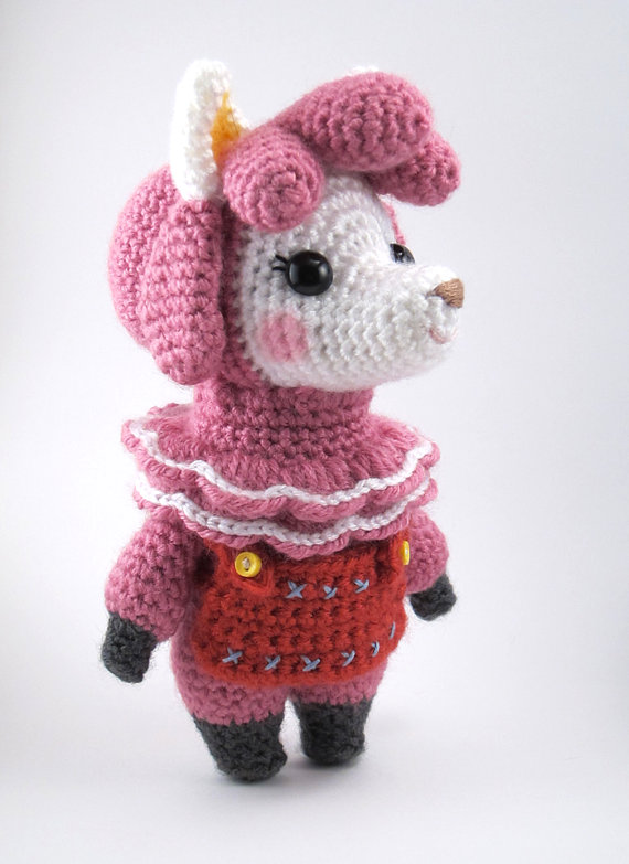 Animal Crossing - Reese the Alpaca Instant Download Crochet Pattern by sarsler