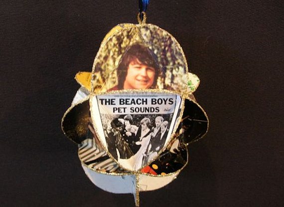Beach Boys Egg Shaped Album Cover Ornament Made Of Record Jackets by CraftySueShop