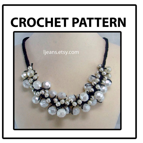 Scrunched Crochet Necklace Pattern by ljeans